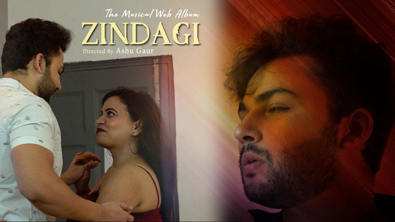 Zindagi Motivational Hindi Song Poster Ashu Gaur Aspkom Eixil Dilip tahil , mithun chakraborty , ranjeeta. ashu gaur aspkom eixil